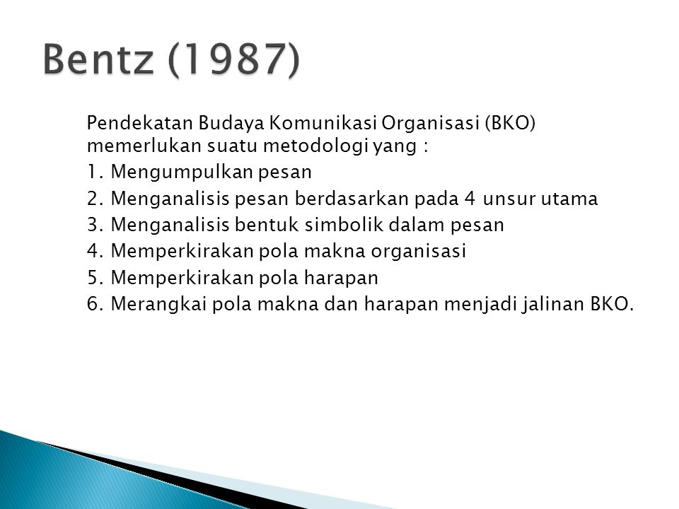 Bentz (1987)
