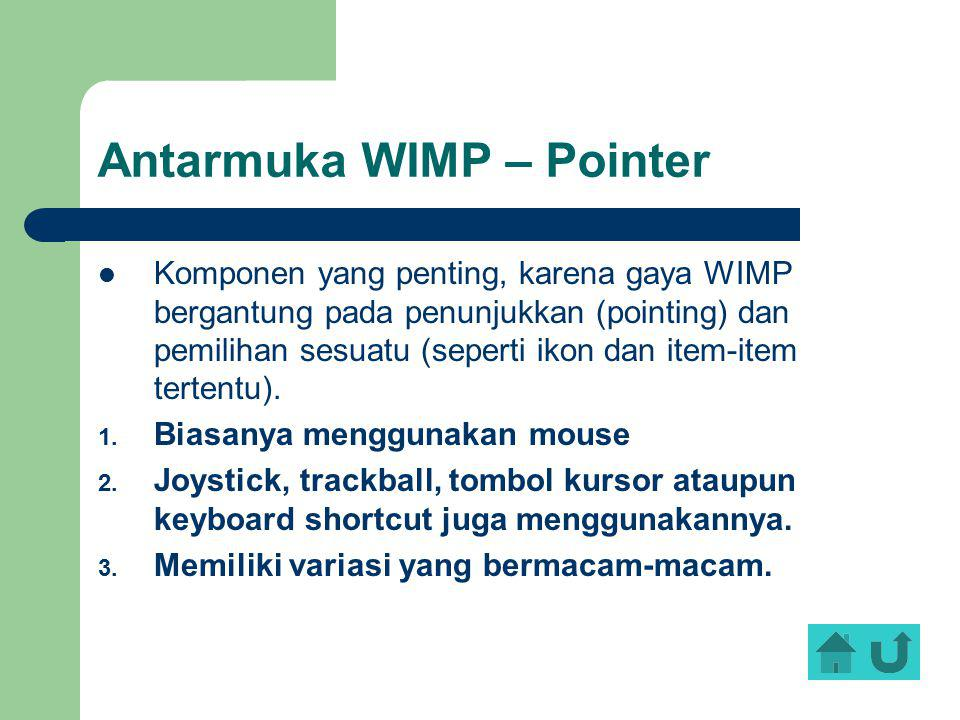 Antarmuka WIMP – Pointer
