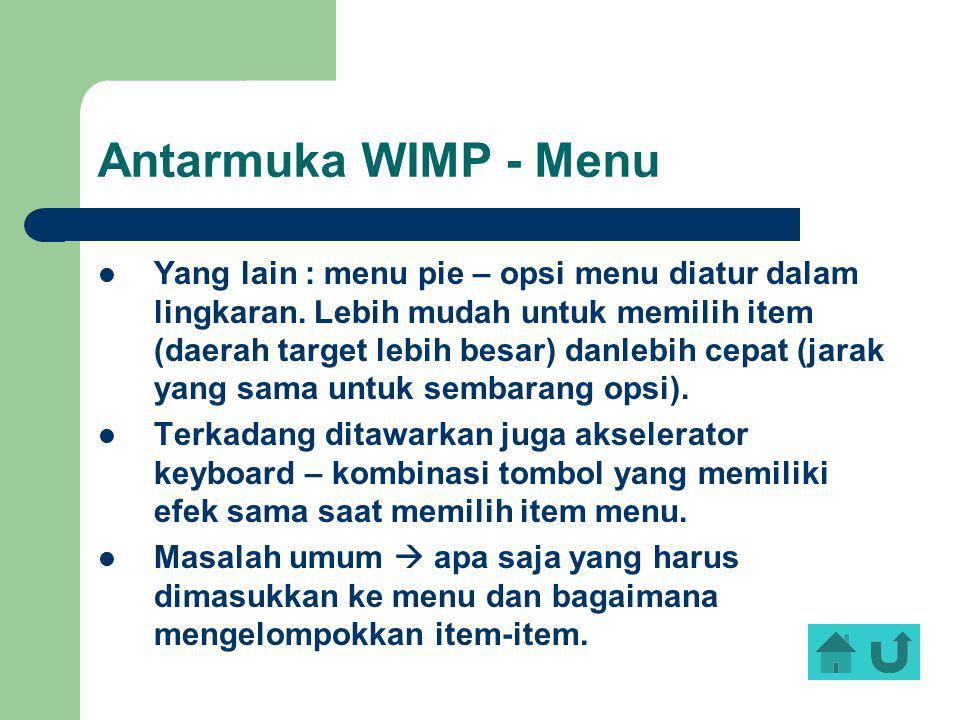 Antarmuka WIMP - Menu