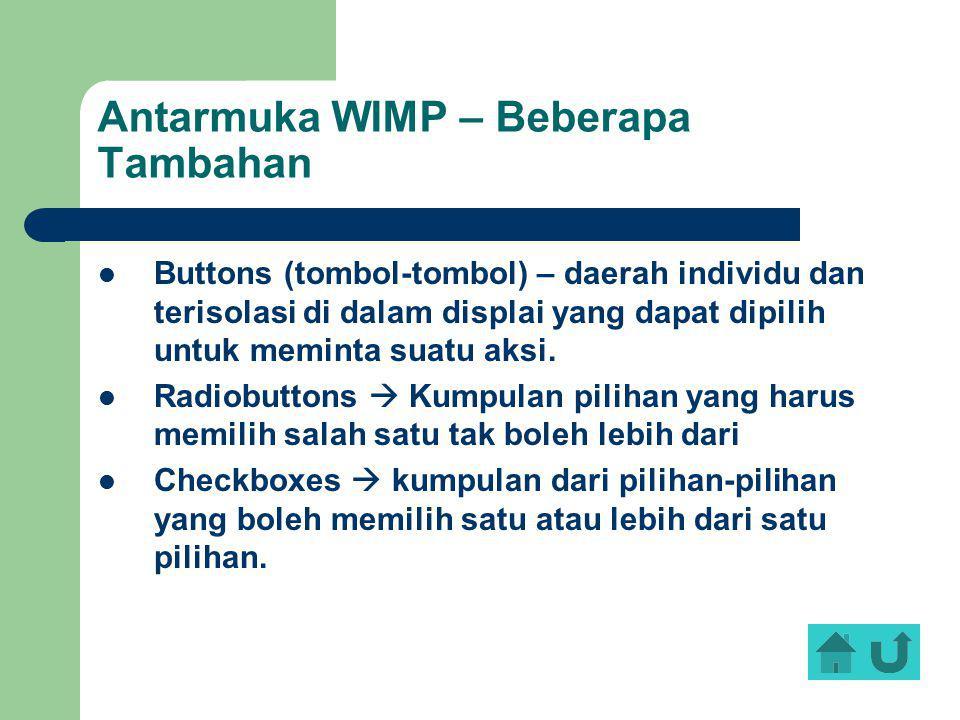 Antarmuka WIMP – Beberapa Tambahan