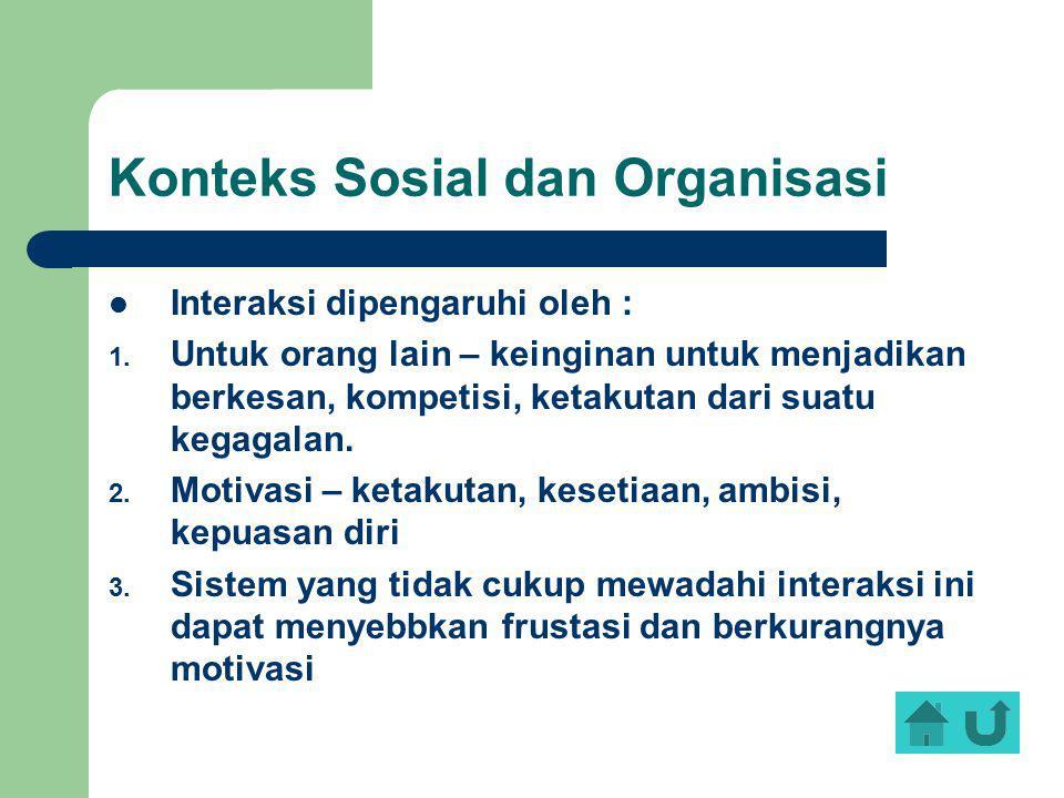 Konteks Sosial dan Organisasi