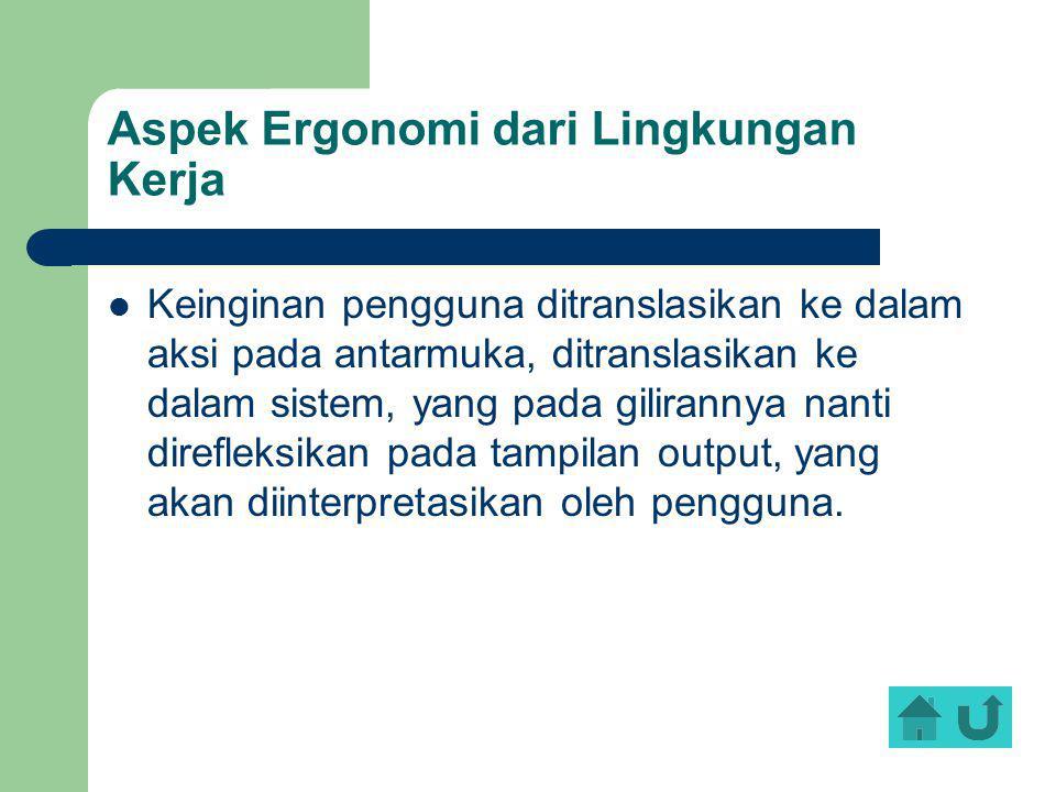 Aspek Ergonomi dari Lingkungan Kerja