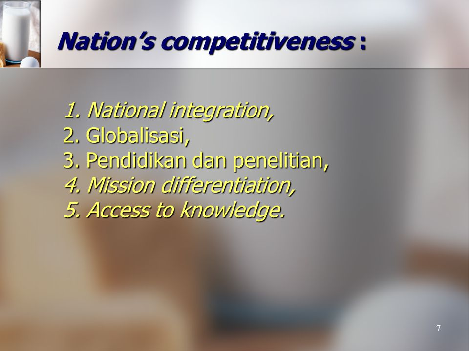 Nation's competitiveness :