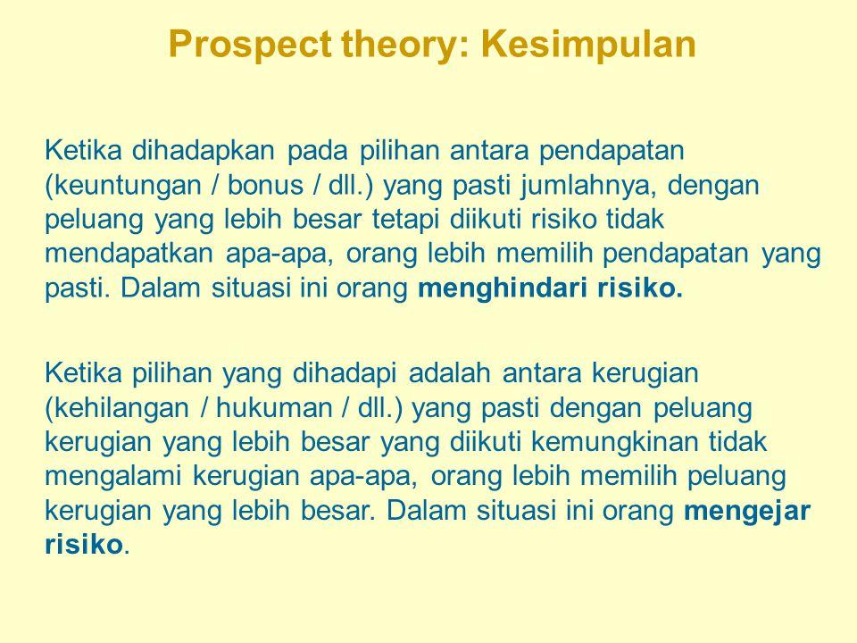 Prospect theory: Kesimpulan