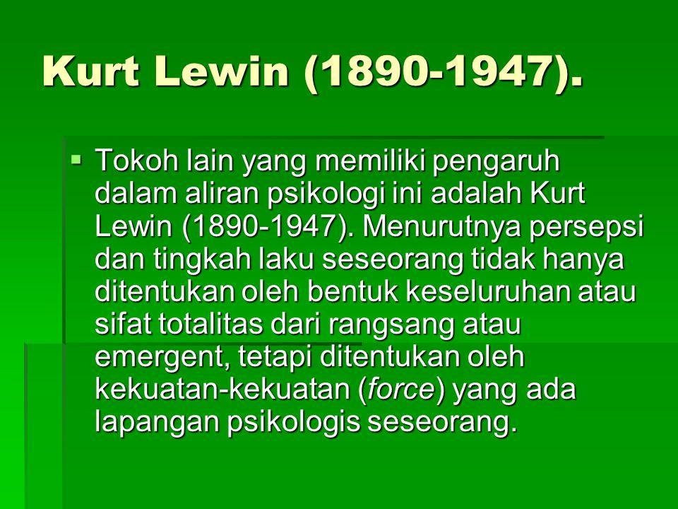 Kurt Lewin (1890-1947).