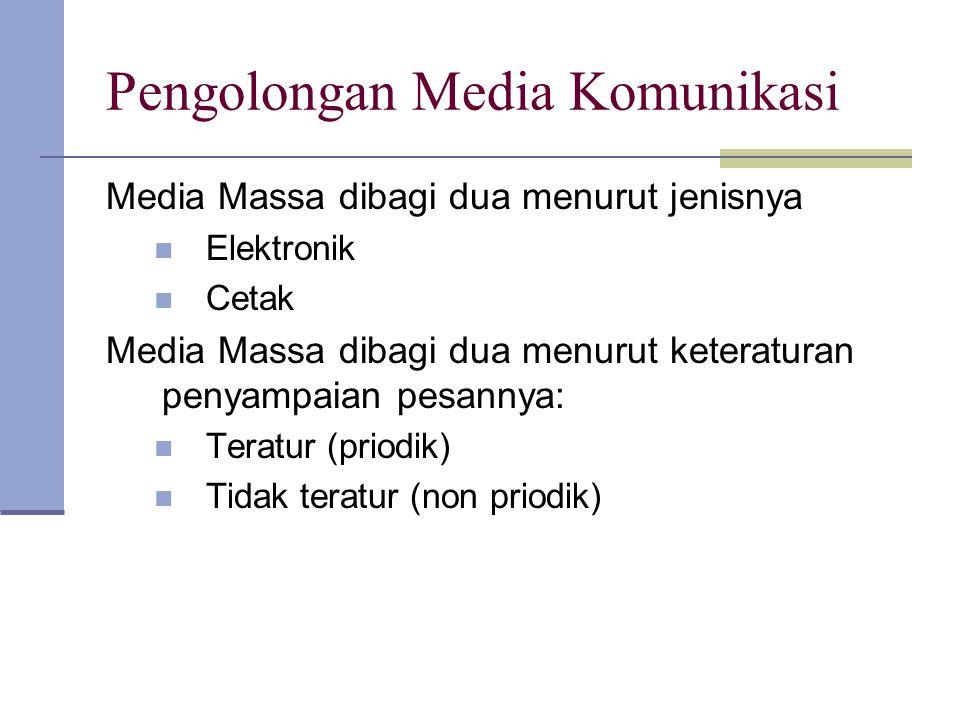Pengolongan Media Komunikasi