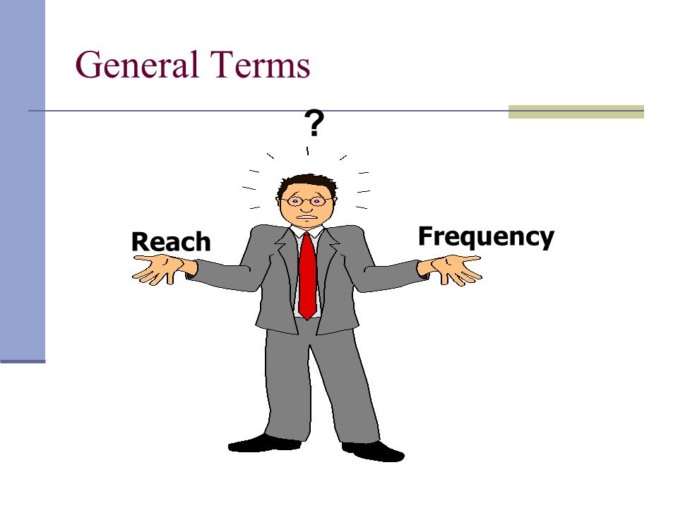 General Terms Frequency Reach