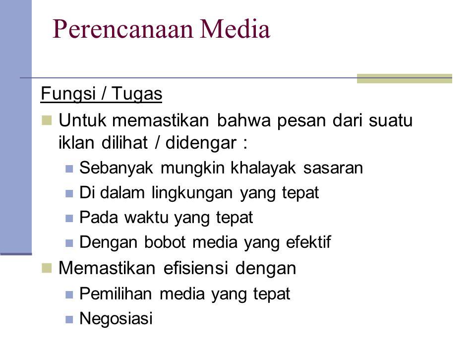 Perencanaan Media Fungsi / Tugas