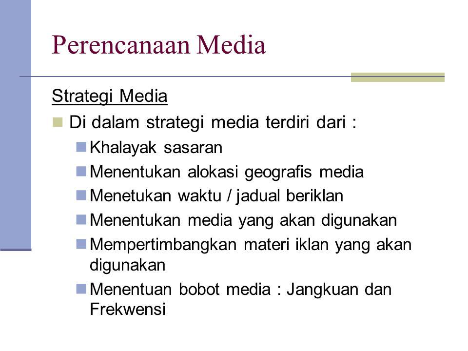 Perencanaan Media Strategi Media