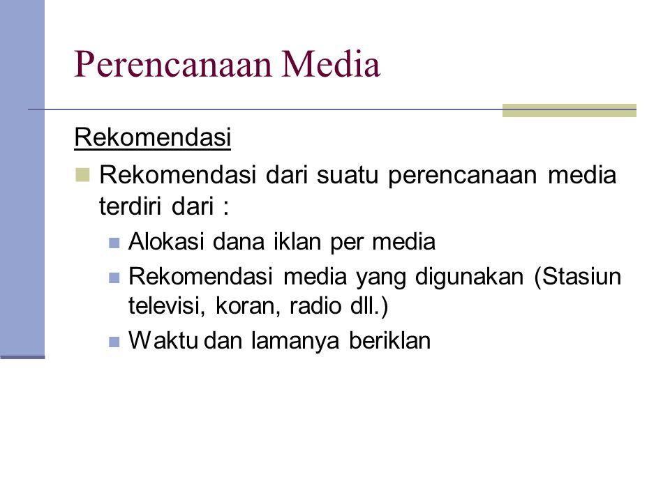 Perencanaan Media Rekomendasi