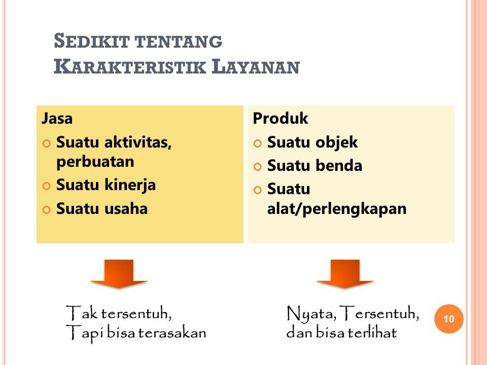Sedikit tentang Karakteristik Layanan
