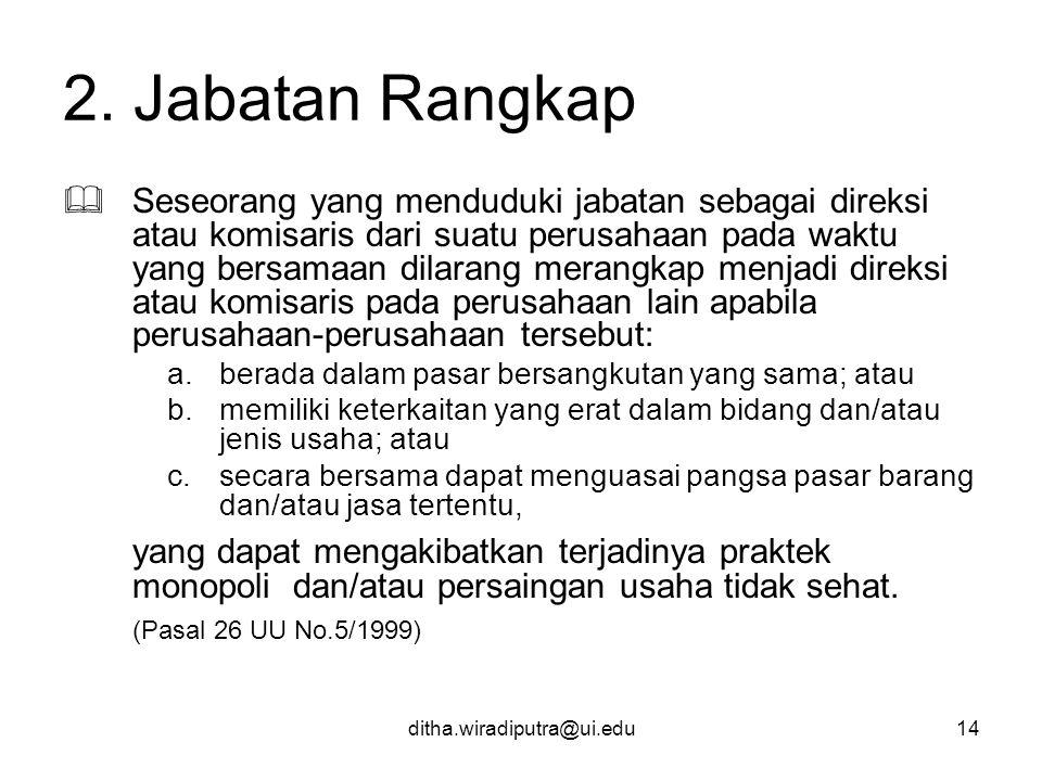 2. Jabatan Rangkap