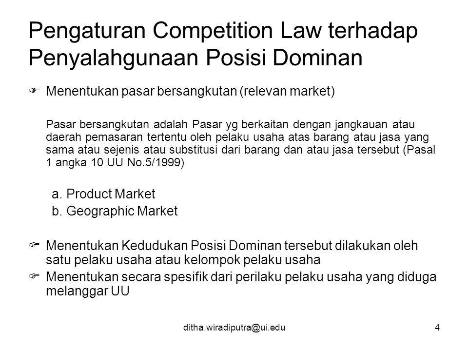 Pengaturan Competition Law terhadap Penyalahgunaan Posisi Dominan