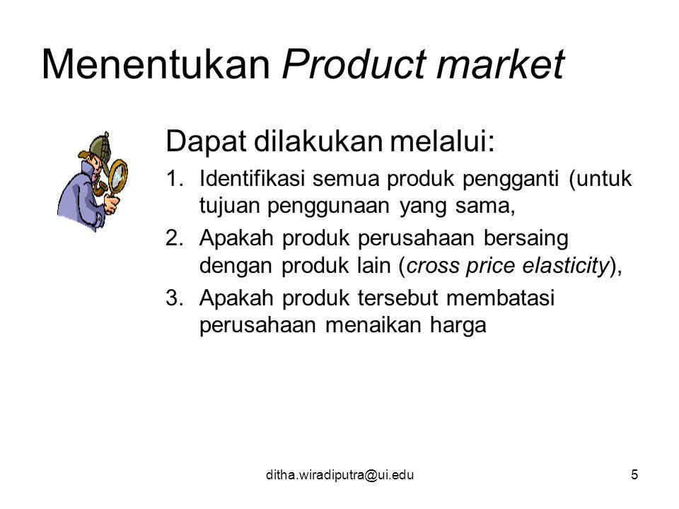 Menentukan Product market