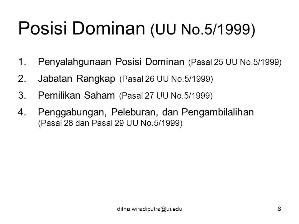 Posisi Dominan (UU No.5/1999)