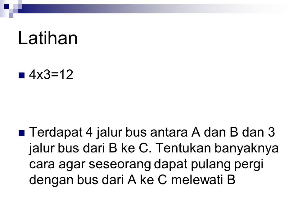 Latihan 4x3=12.