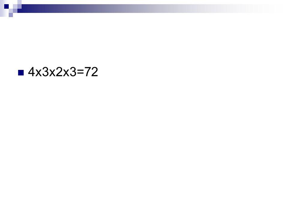 4x3x2x3=72