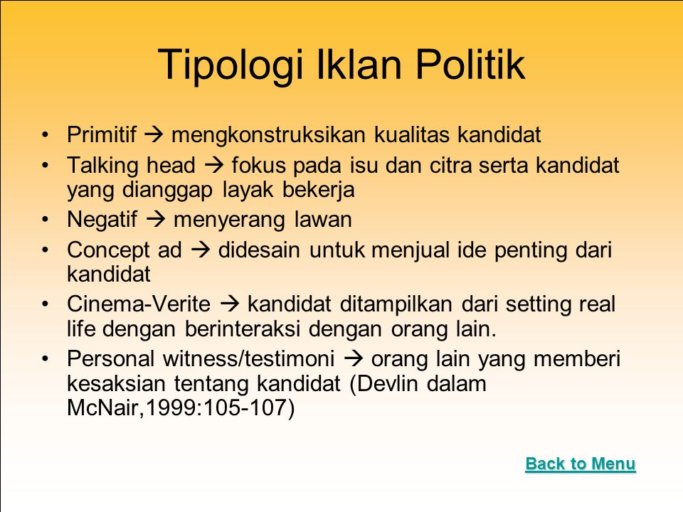 Tipologi Iklan Politik