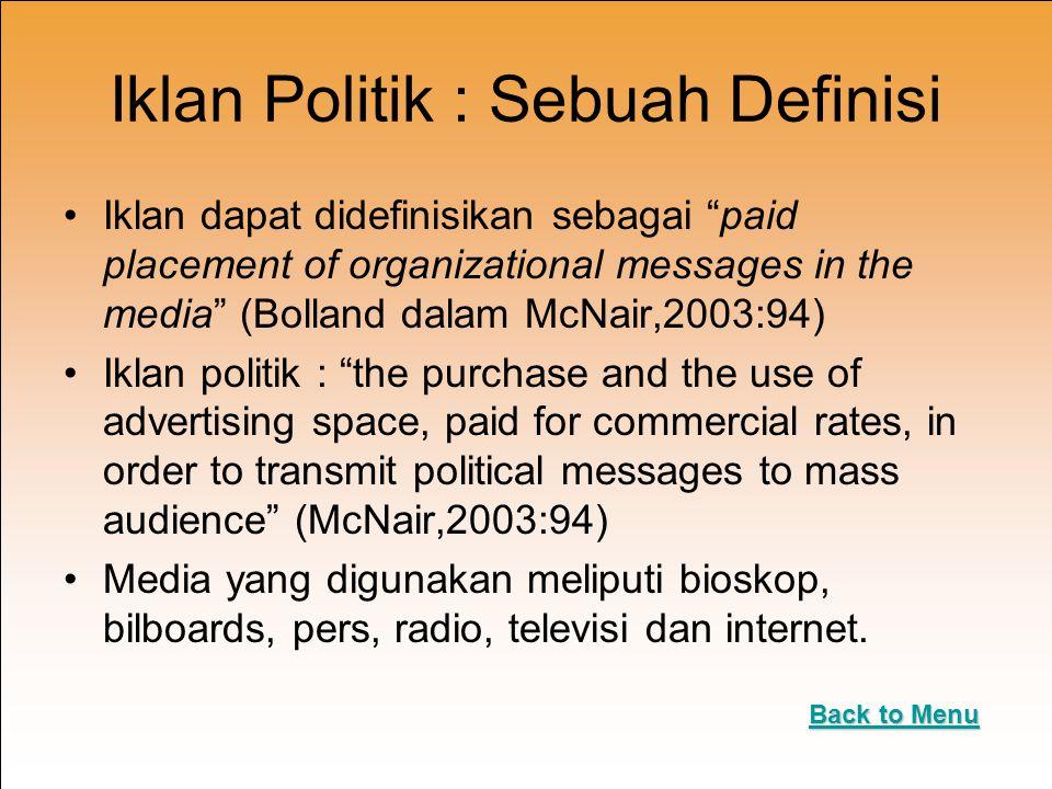Iklan Politik : Sebuah Definisi