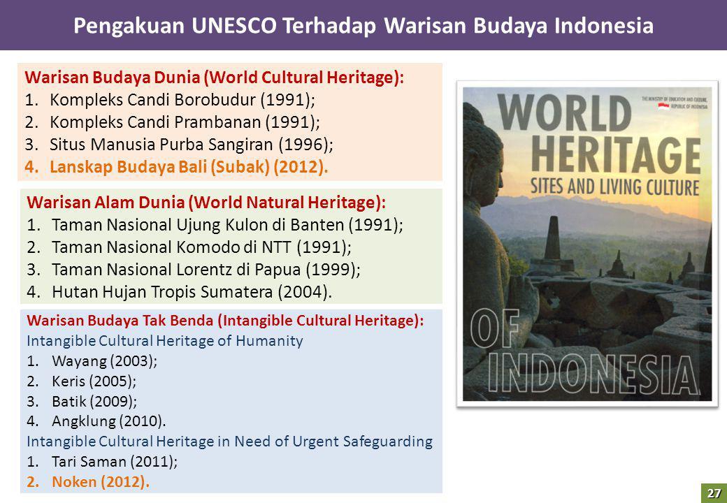 Pengakuan UNESCO Terhadap Warisan Budaya Indonesia
