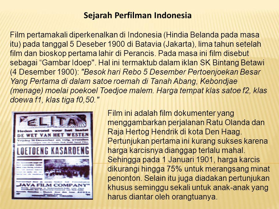 Sejarah Perfilman Indonesia