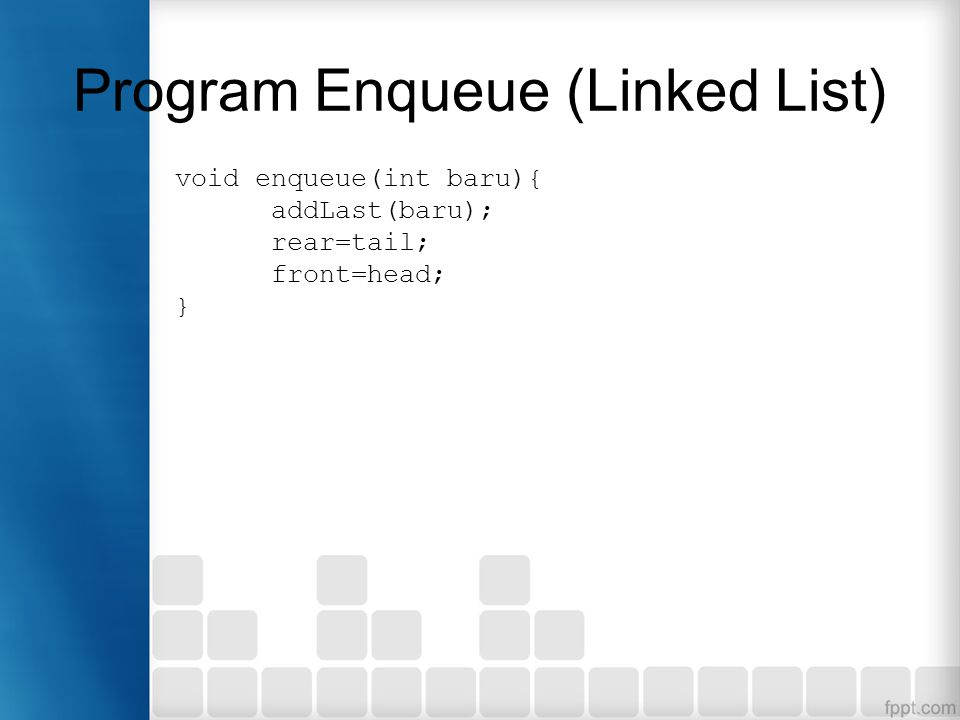 Program Enqueue (Linked List)