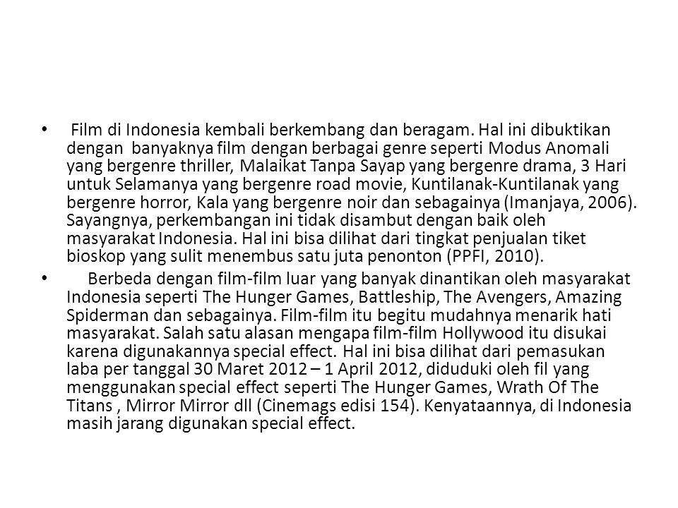 Film di Indonesia kembali berkembang dan beragam
