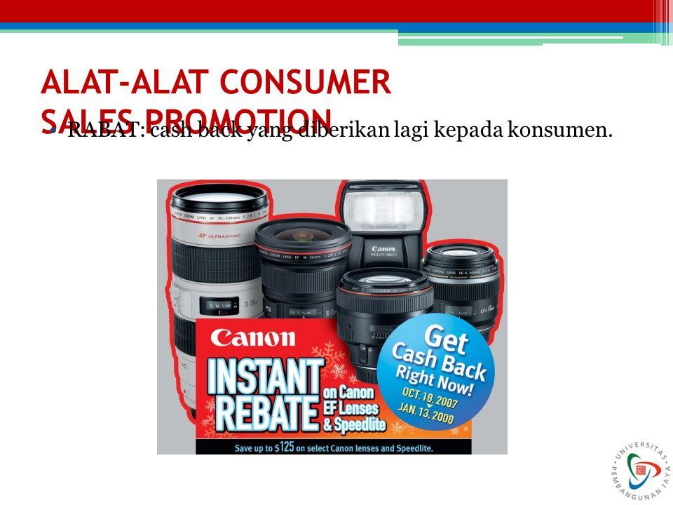 ALAT-ALAT CONSUMER SALES PROMOTION