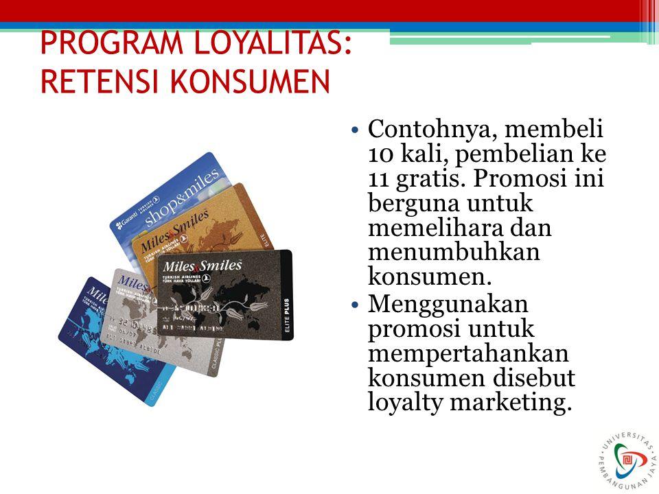 PROGRAM LOYALITAS: RETENSI KONSUMEN