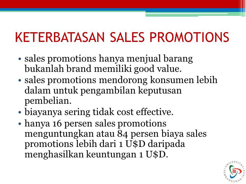 KETERBATASAN SALES PROMOTIONS