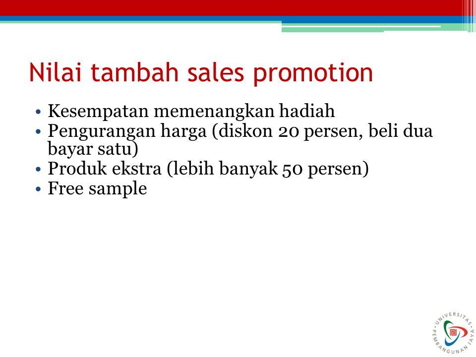 Nilai tambah sales promotion