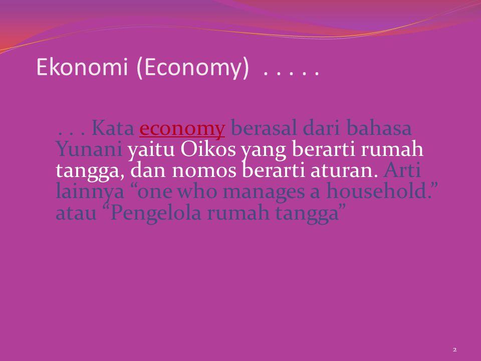 Ekonomi (Economy) . . . . .