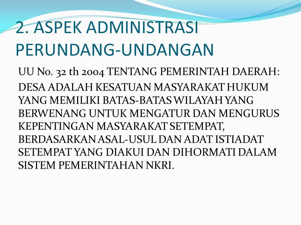 2. ASPEK ADMINISTRASI PERUNDANG-UNDANGAN