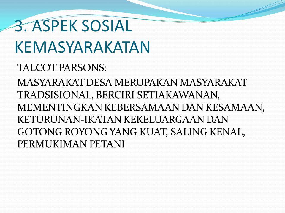 3. ASPEK SOSIAL KEMASYARAKATAN