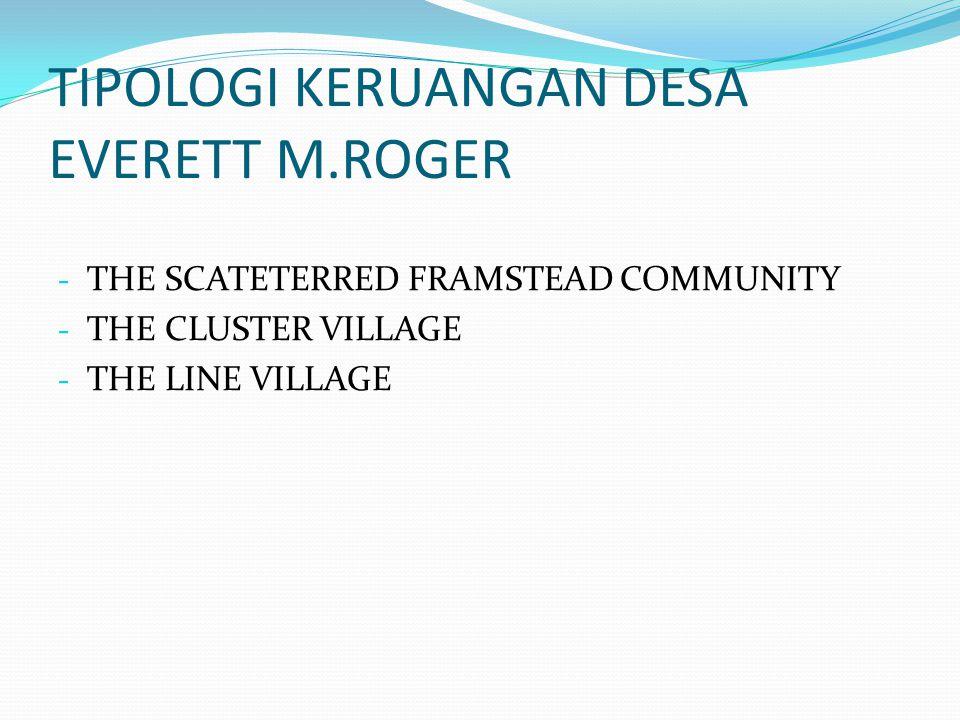 TIPOLOGI KERUANGAN DESA EVERETT M.ROGER