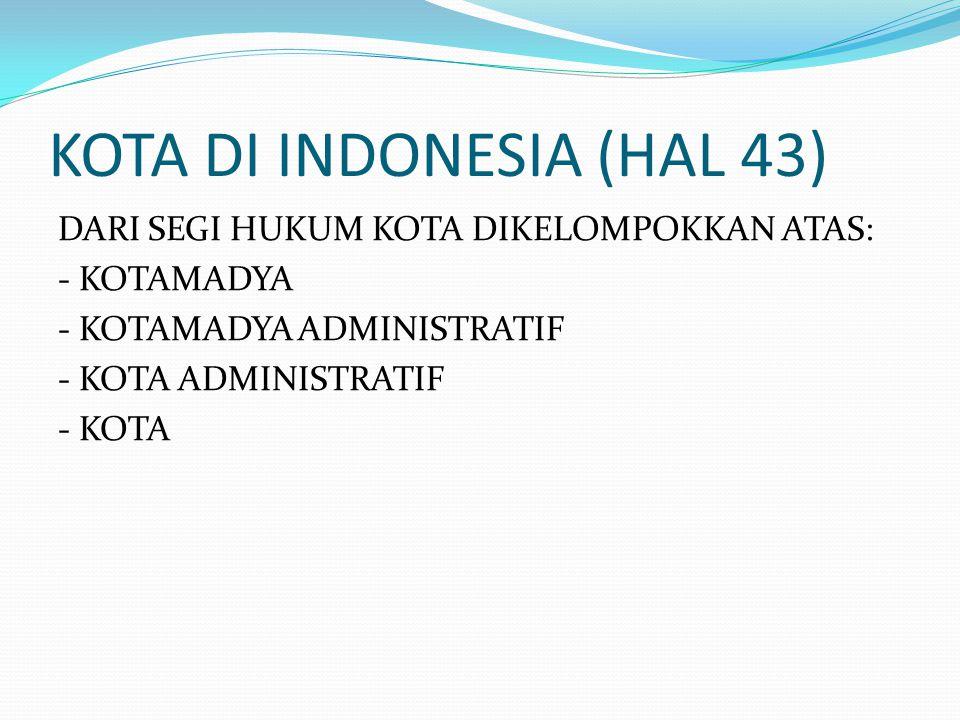 KOTA DI INDONESIA (HAL 43)