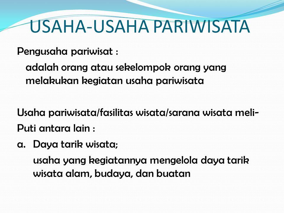USAHA-USAHA PARIWISATA