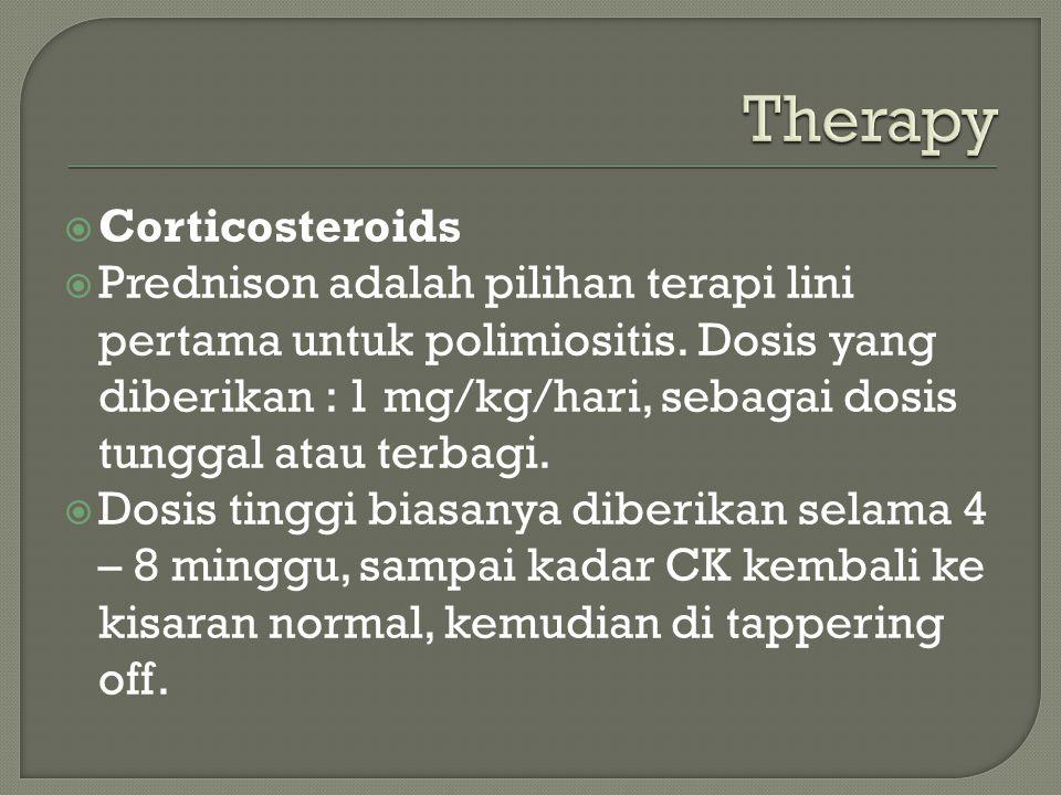 Therapy Corticosteroids