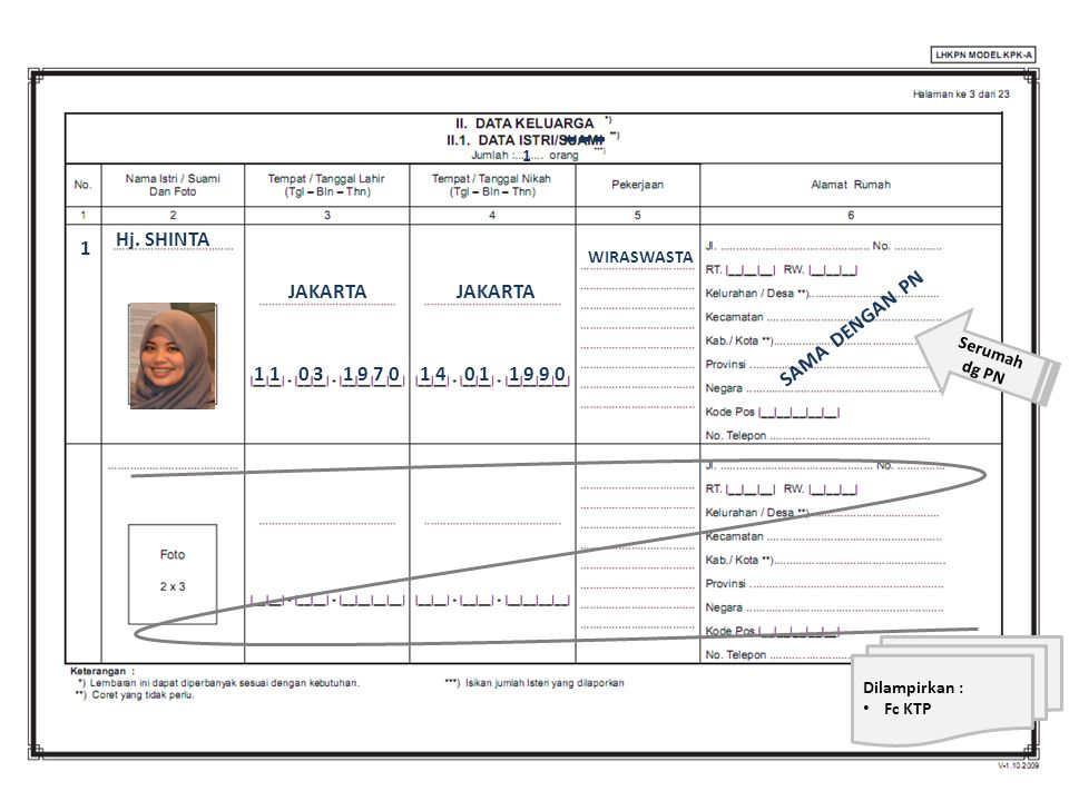 --- Hj. SHINTA 1 JAKARTA JAKARTA SAMA DENGAN PN 1 1 0 3 1 9 7 0