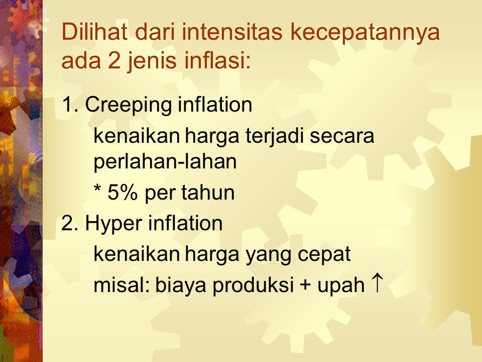 Dilihat dari intensitas kecepatannya ada 2 jenis inflasi: