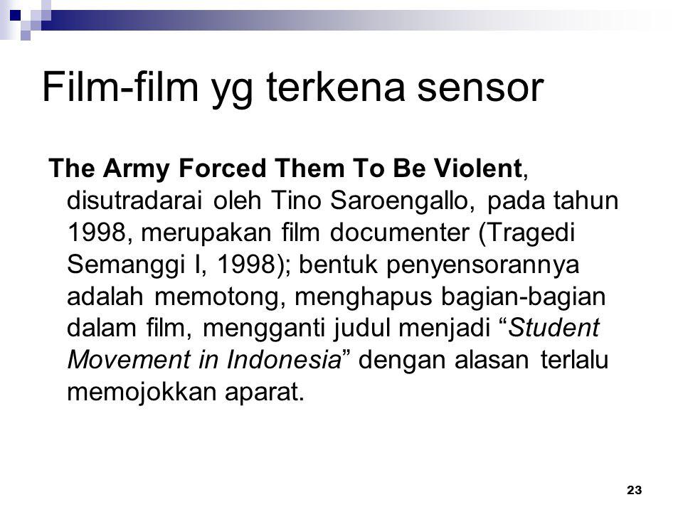 Film-film yg terkena sensor