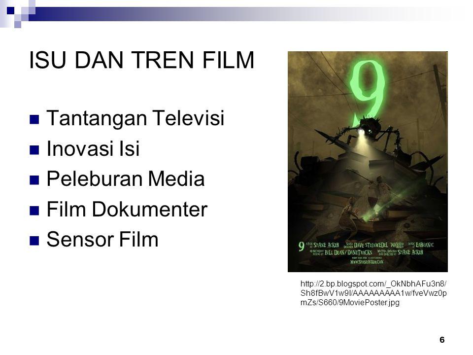ISU DAN TREN FILM Tantangan Televisi Inovasi Isi Peleburan Media