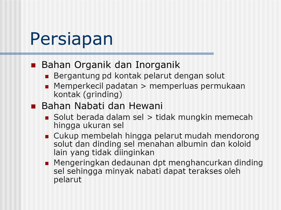 Persiapan Bahan Organik dan Inorganik Bahan Nabati dan Hewani