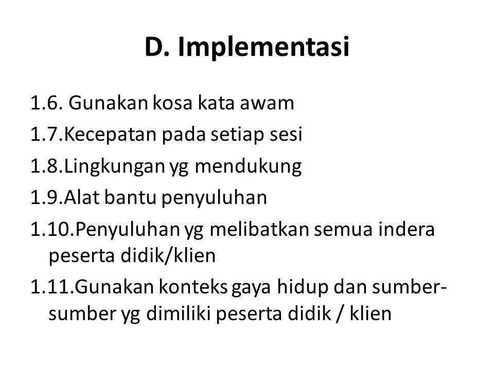 D. Implementasi