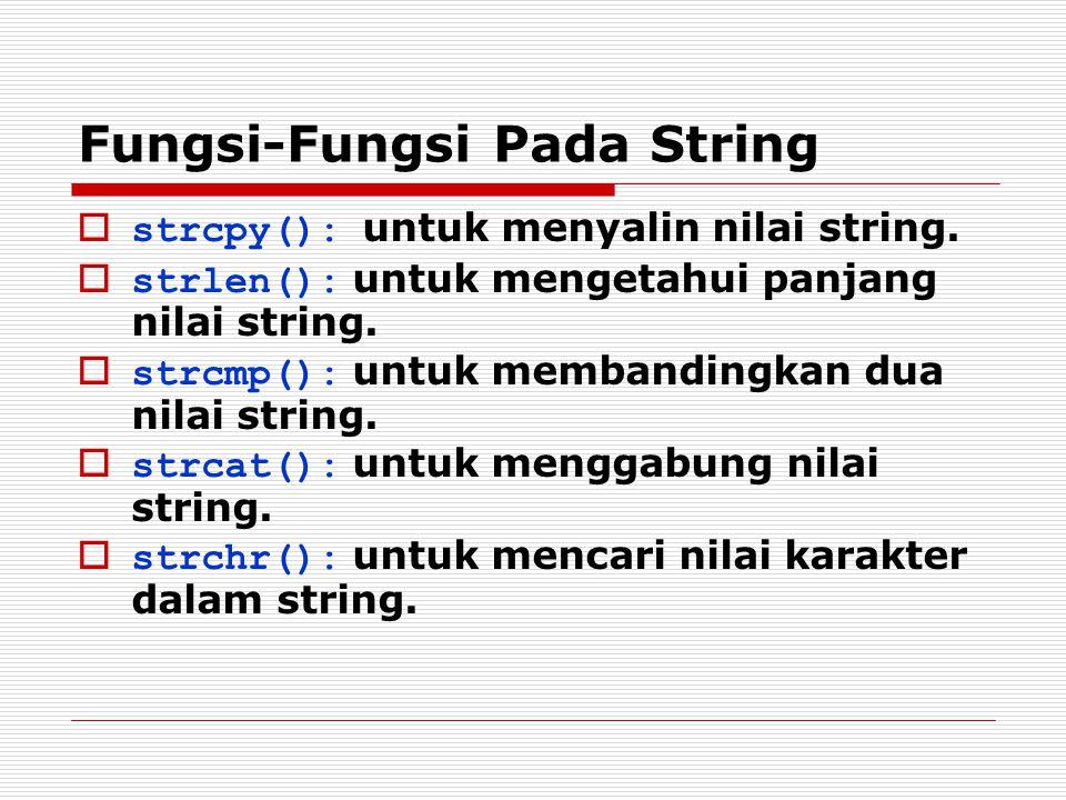 Fungsi-Fungsi Pada String