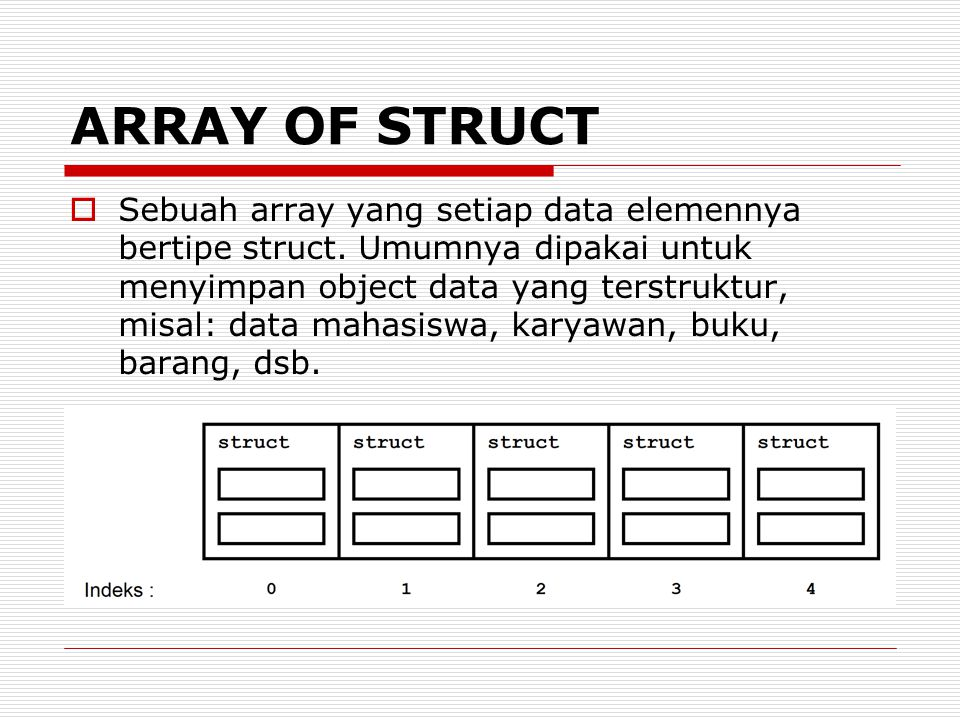 ARRAY OF STRUCT