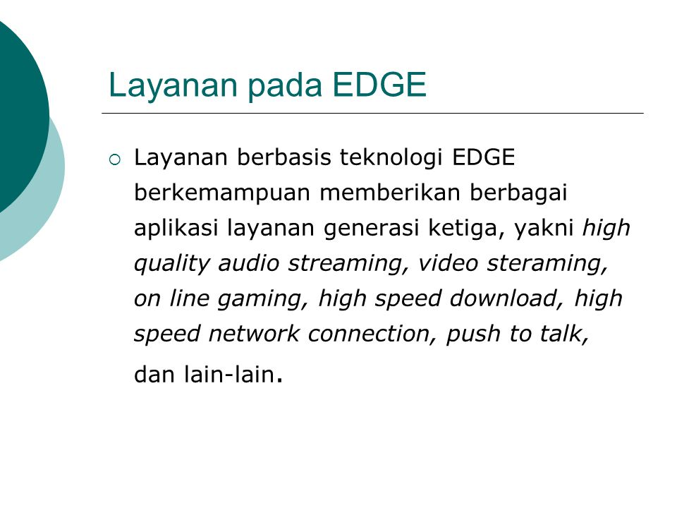 Layanan pada EDGE