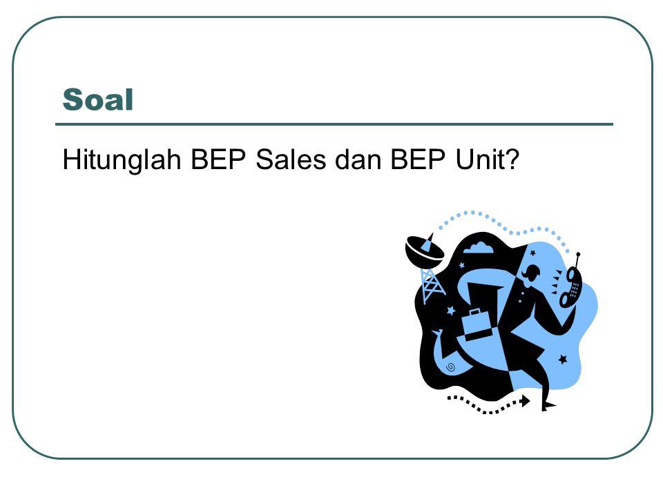 Soal Hitunglah BEP Sales dan BEP Unit
