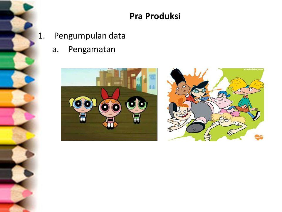 Pra Produksi Pengumpulan data Pengamatan