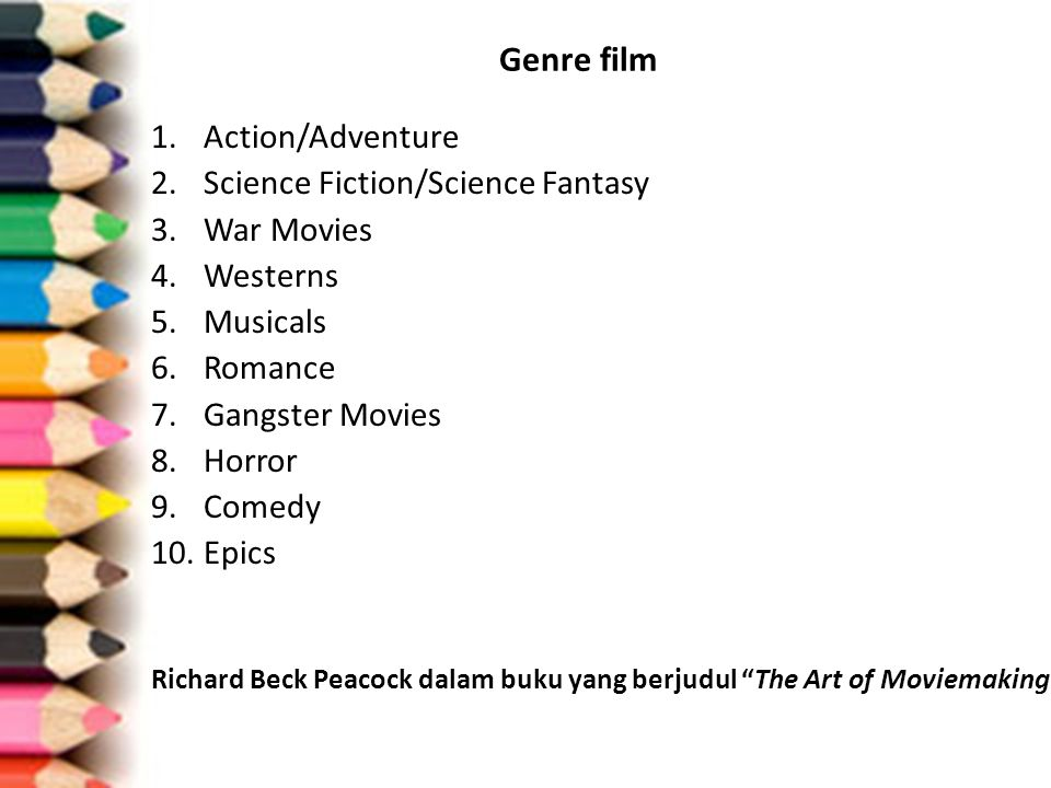 Genre film Action/Adventure Science Fiction/Science Fantasy War Movies